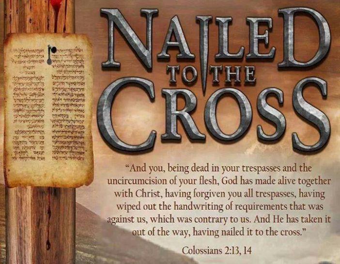 colossians 2 13 14 cross forgive
